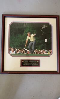 Autograph Jack Nicklaus Framed photo