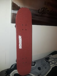 red Speed Demons skateboard