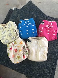 five assorted clothes diapers Lowell town, 53579