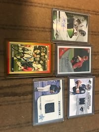 5 sports cards with autographs including a Ricky Proehl rookie card signed Somerset, 08873
