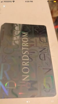 $500 Nordstrom giftcard