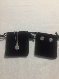 Bittersweet cubic zirconia earrings and matching necklace Mississauga, L5N 7G1