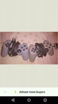 black Sony PS2 with two controllers 539 km