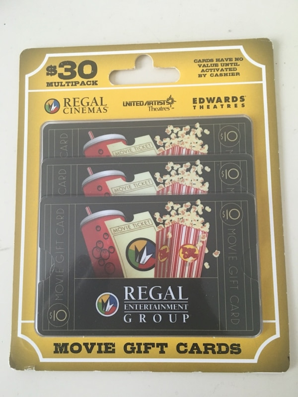 Used Regal Cinemas Gift Cards For Sale In Greensboro Letgo