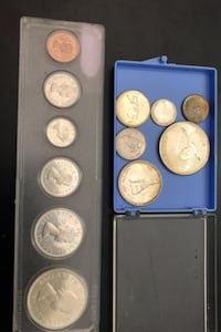 1964 and 1967 Canadian silver coin sets