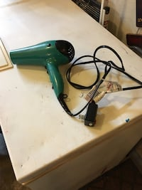 Pre-owned REVLON Ionic/1875W hair blower ; green and black Greenwood, 46143