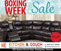 BOXING WEEK EXTENDED Recliner sectional  is now at sale  Brampton