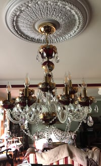 Chandelier with 2 matching wall sconces