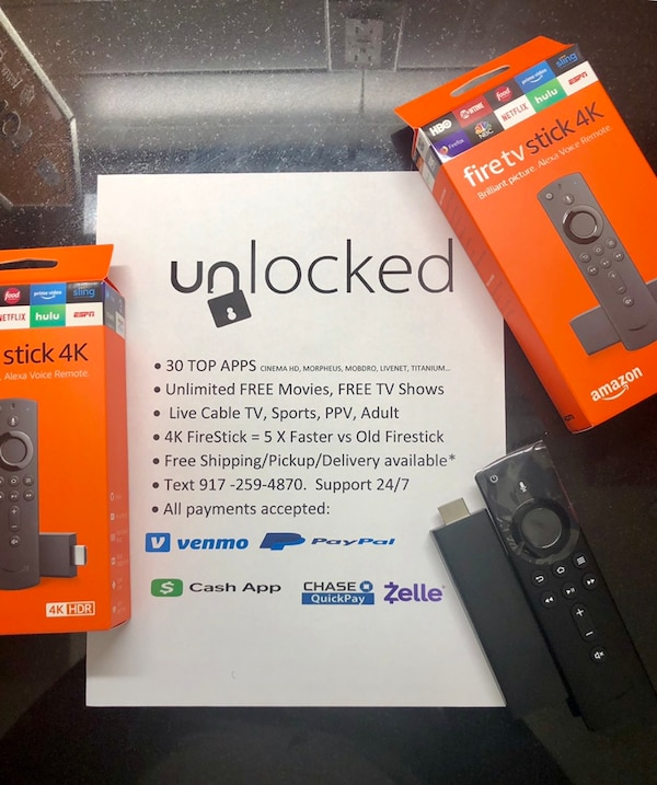 Used Amazon Fire Tv Stick With Alexa Voice Remote Box For Sale In