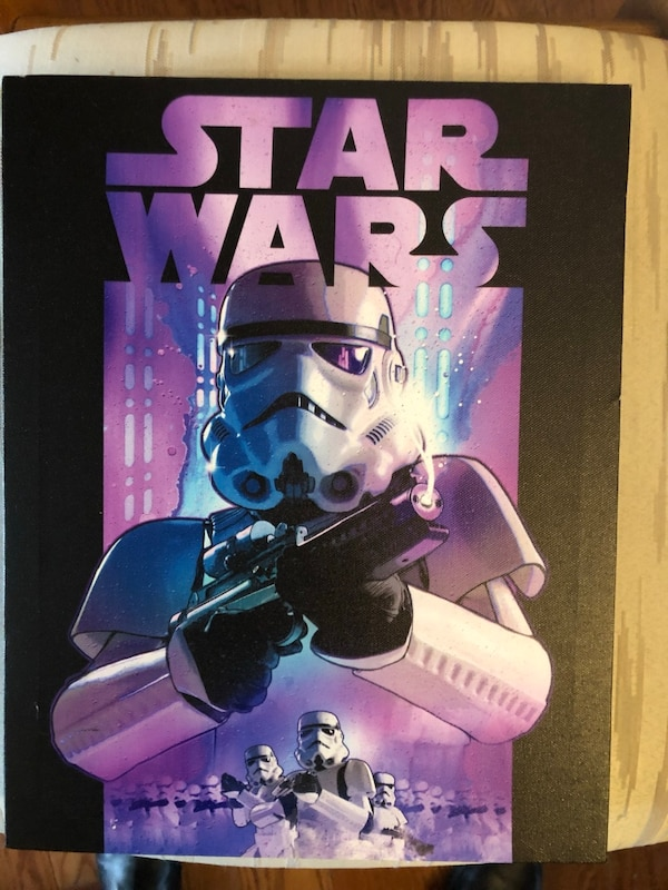 SET OF 4 STAR WARS CANVAS PICTURES 903ce9f9-6dc8-4a94-be2b-2a01a47da04d