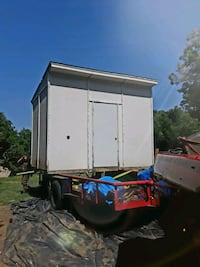 white and blue enclosed trailer Choctaw, 73020
