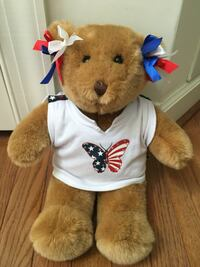 Brown Build-A-Bear in butterfly shirt Germantown, 20874