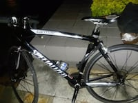black and white Specialized tarmac comp. Mt. Bike