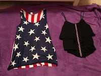 American flag tank top and black tank top Morrilton, 72110