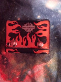 black and red Harley-Davidson Motorcycles trifold wallet Mississauga, L5H