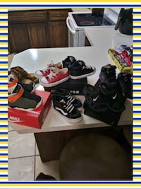 Nikes Vans and Converses size 7 and 8 kids