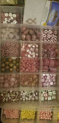 Pink Quartz Glass Beads + organizer Fresno, 93704