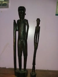 two black and brown wooden figures Barberton, 44203