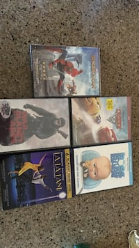 four assorted DVD movie cases South Bend, 46628