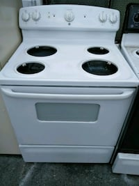 white and black electric coil range oven Capitol Heights, 20743
