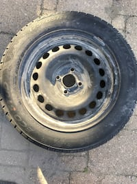 Four 15 inch studded winter tires (175/65R15) 714 km