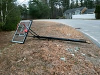 Basket ball hoop that needs to be cemented