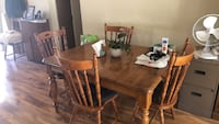 Rectangular brown wooden table with six chairs dining set Valley Springs, 95252