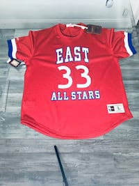 New with tags bird all star Mitchell & Ness basketball jersey