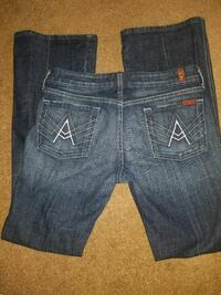 7 for all mankind ladies 'A' pocket Jeans: Size 30