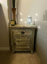Distressed Gray End Table Aurora, 60502