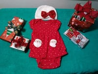 3mth Christmas dress. $5 San Antonio, 78210
