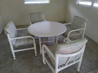 round white wooden table with two chairs Stuart, 34997