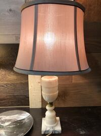 White Carrara Marble table lamp, made in Italy. Mississauga, L5R 0E2