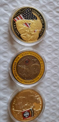 24k 999.99 gold plated 3pc  coin art Breinigsville, 18031