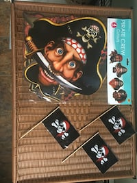 Pirate party decorations- set of 4-new in the package
