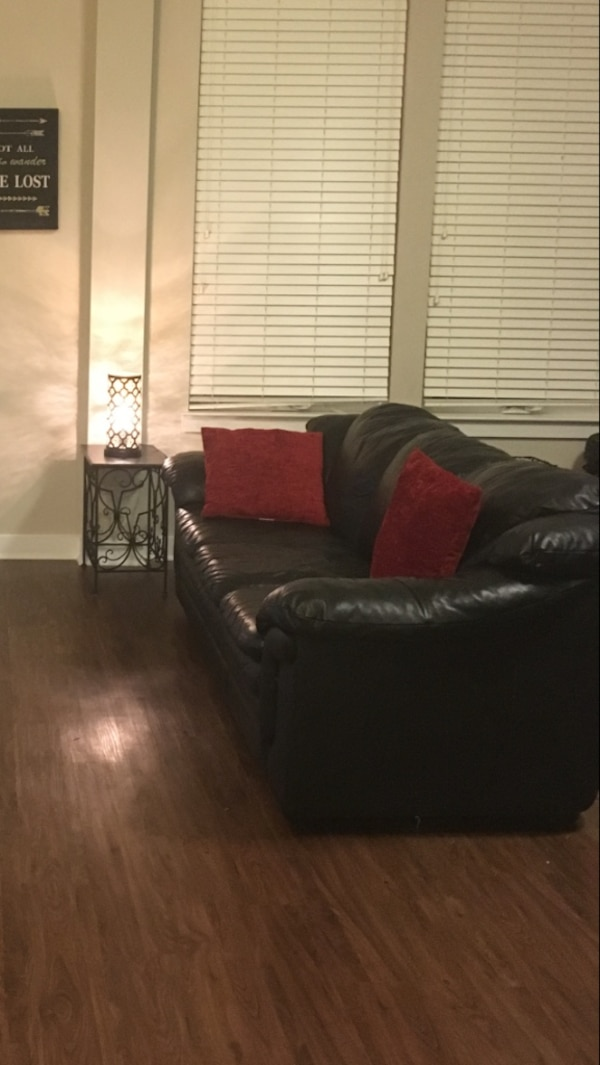 Leather Couch and Love Seat Set