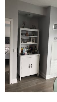 White wooden cabinet with shelf Pickering, L1X 1A7