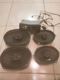 Orion Car speakers and JVC Radio Deck w/ Bluetooth adapter Pompano Beach, 33069