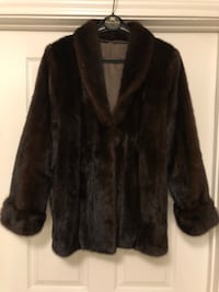 Rare 100% Natural MINK Coat-Denmark-Mahogany Brown-Female Skins w/Tags
