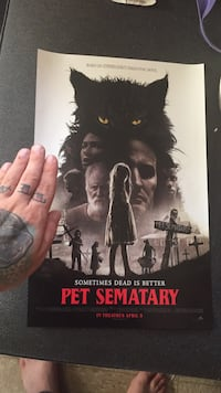 Pet semetary promo poster collectible