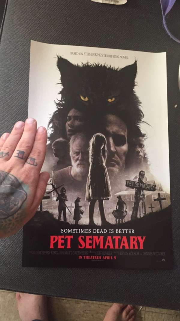 Pet semetary promo poster collectible dc586f70-701f-41bf-8dc3-11c5e68771d5