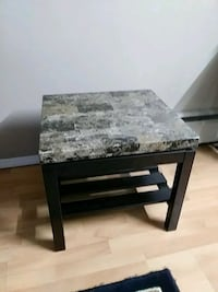 rectangular black wooden table with two chairs Surrey, V3R 1M8