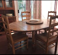 brown wooden dining table set Brea, 92821