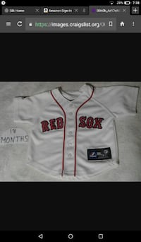 RED SOX BABY JERSEY 18 MONTHS!!!