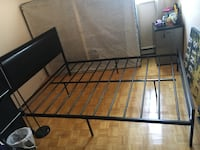 black metal bed frame with white mattress Toronto, M6K 1R2