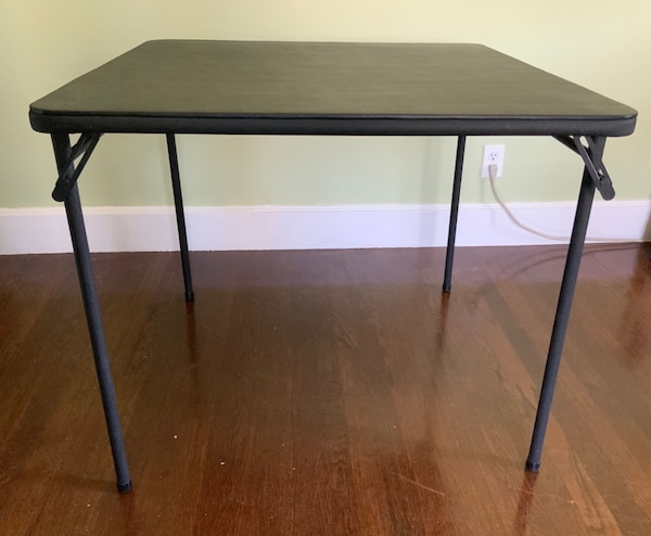 Cosco Products Folding Portable Card Table 33 5 Inch Square Top
