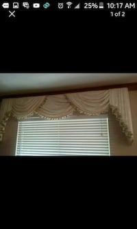 white and brown window curtain North Las Vegas, 89032