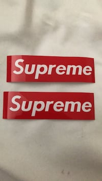 2 small supreme stickers Whitby