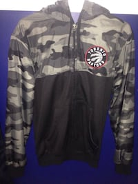 gray and black Toronto Raptors camouflage zip-up hoodie Toronto, M1E 4A2