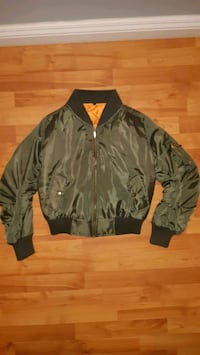 Girls Green Bomber Jacket